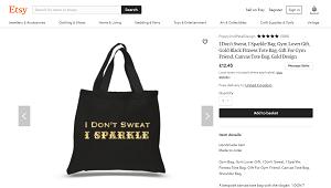 I Don't Sweat. I Sparkle Gym Bag