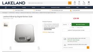 Lakeland Precision Flat Digital Kitchen Weighing Scale