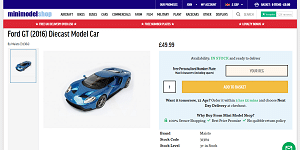 Ford GT (2016) Diecast Model Car by Maisto