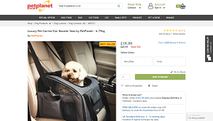 Luxury Pet Carrier Car Booster Seat