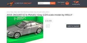 "Welly ""Jaguar XJ"" Car"