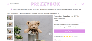 Personalised Teddy Bear Gift Tin