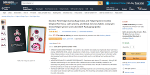 Tri Fidget Spinner and Fidget Cube Bundle