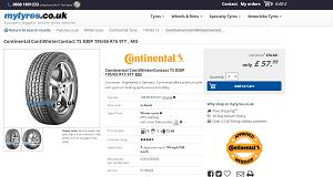 Continental ContiWinterContact TS850P