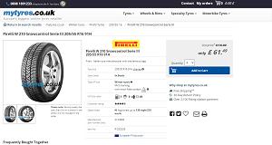 Pirelli Snowcontrol Series 3 W210