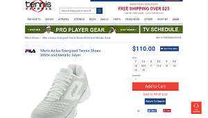 Streamlined Tennis Shoes