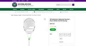 Wimbledon Tennis Racquet