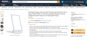 Portable Light Therapy Light