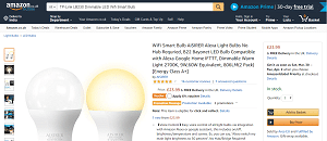 Dimmable LED Wifi Smart Bulb