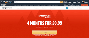 4 Months of Amazon Music Unlimited 0.99p