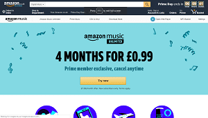 4 Months of Amazon Music Unlimited