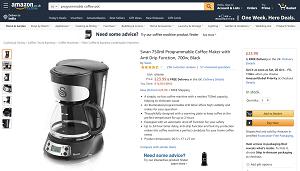 Programmable coffee pot