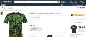 Green tie-dye shirts