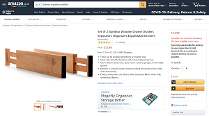 Bamboo Wooden Drawer Dividers