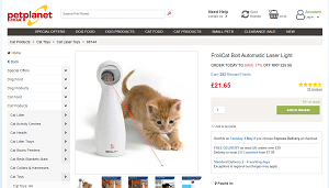 Automatic Cat Laser Pointer