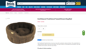 Earthbound Traditional Tweed Brown Dog Bed