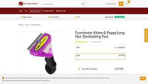 FURminatordeShedding Tool for Long Hair Cats
