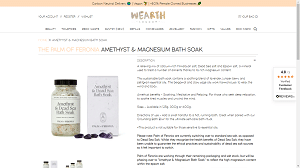 Amethyst and Magnesium Bath Soak